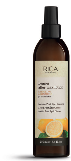 581c20515f9 LEMON – AFTER Wax Lotion Lemon extract promotes rapid recovery of the skin  after epilation.